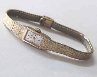Vintage 17 jewels Gruen Precision 14K yellow gold Ladies Wrist watch - sku 1639l3