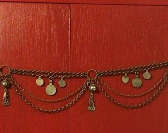 Penta kuchi coin & chain bellydance belt