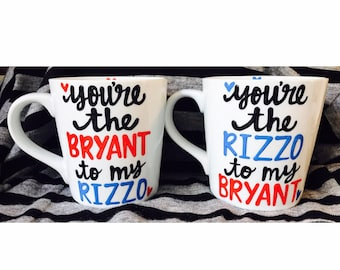best friends-gifts for baseball fan- besties- coffee mug- bryant-rizzo- best friend goals-Father's Day- chicago cubs- Bromance- Mother's Day