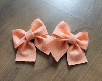 Creamsicle Bow! Headband, clip or pig tail clips