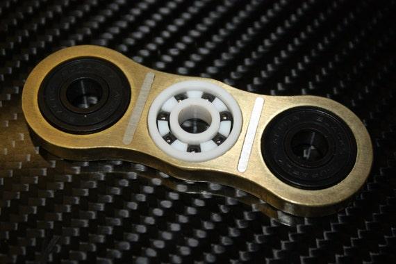 EDC brass/stainless Fidget spinner hand spinner with full ceramic bearings.