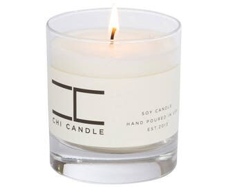 Fraser Fir - Sage Soy Candle.Libbey Tumbler Scented Soy Candle. Handmade