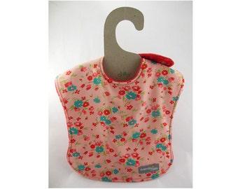 Baby girl bib, baby bib, leak proof bib, 1st birthday bib, flower bib, shower gift, rainy day, ready to ship, floral bib, first birthday