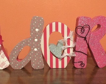 Love wood decor. Love wood letters. Valentines day decor. Valentines day wood decor. Adore decor.