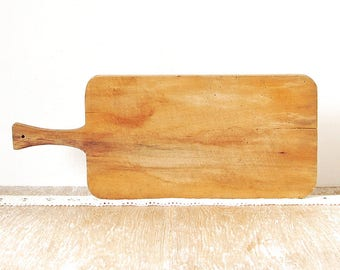 Rustic Wood Cutting Board, Solid Wooden Kitchen Board, Cooking Utensils