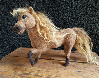 Iceland pony,Iceland Horse , soft sculptur,Iceland Sheep, needel felted ,one of a kind,collectible critter, creature,, eco ,waldorf  Horse