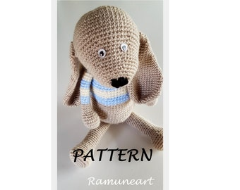PATTERN: Crochet puppy pattern - amigurumi dog pattern - crocheted dog pattern - dog toy tutorial - PDF crochet pattern