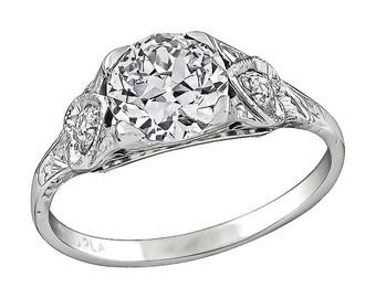 Edwardian GIA Certified 1.02ct Diamond Engagement Ring