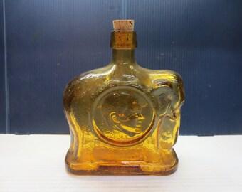 Vintage 1968 Republican Campaign Glass Bottle/decanter Wheaton/Nixon Elephant