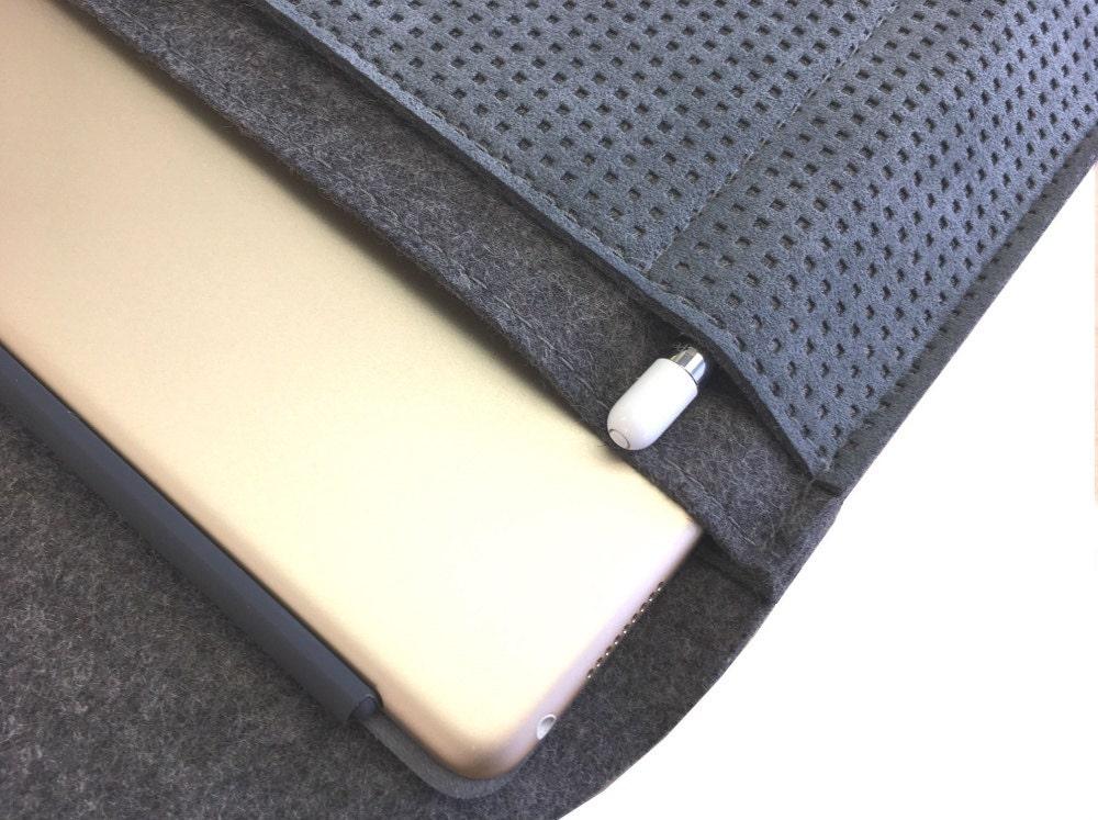 filz alcantara tasche ipad pro 12 9 anthrazit tablet tasche. Black Bedroom Furniture Sets. Home Design Ideas