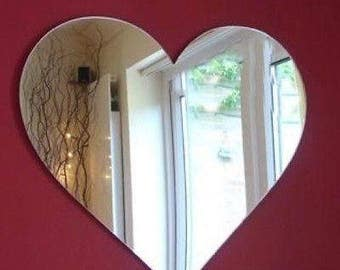 Heart Shaped Mirror - Available in 5 sizes