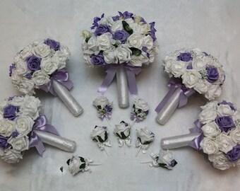 Wedding artificial foam flower package