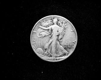 1942 P Walking Liberty Silver Half Dollar #1433 US Coin