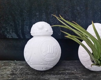 BB8 mini planter, air plant holder, Star wars gift, desk planter, droid, bb8,