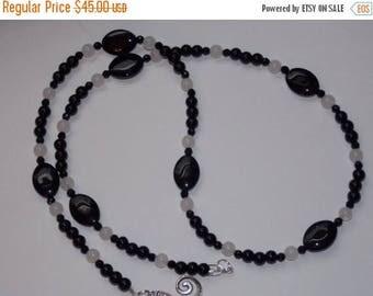 20%OFF Black Agate Black Onyx White Jade Necklace