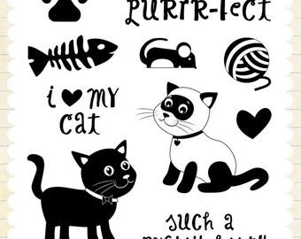 Echo Park Designer Stamp - Meow
