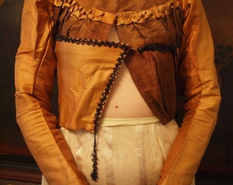 1800s Victorian Copper and Mesh Blouse