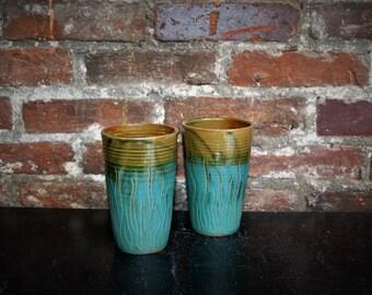 Pint Set - Olive & Turquoise