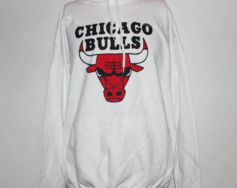 Vintage Chicago Bulls NBA Hooded Sweatshirt L