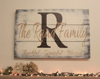 Pallet Wood Initial Sign Name Sign Family Name Sign Personalized Decor Wedding Gift Bridal Shower Gift Housewarming Anniversary Gift