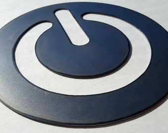 Power Button Metal Sign