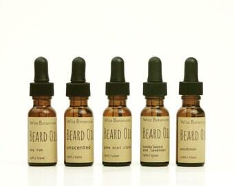 Beard Oil, 1/2oz, All Natural, Vegan
