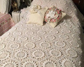 Absolutely stunning  hand made crochet bed spread