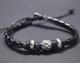 Bow pearl men bracelet
