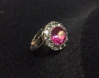 Fuchsia Crystal ring