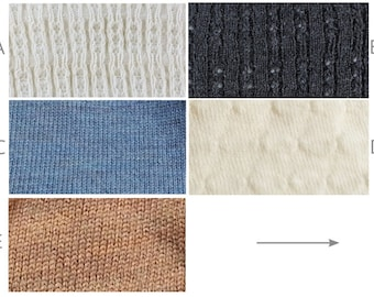 Swatches for Wool Sweater Knits