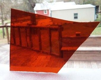 MOSAIC Stained Glass * 1/2 lb * Amber Clear Seeded