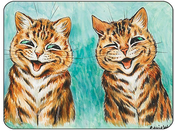 Louis Wain Laughing Cats Mouse Mat Mouse Pad