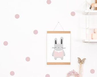 Wall decals / wall stickers 30 points of dots pink