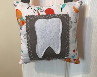 Tooth Fairy Pillow, Girls Tooth Fairy Pillow, Bitds tooth fairy pillow