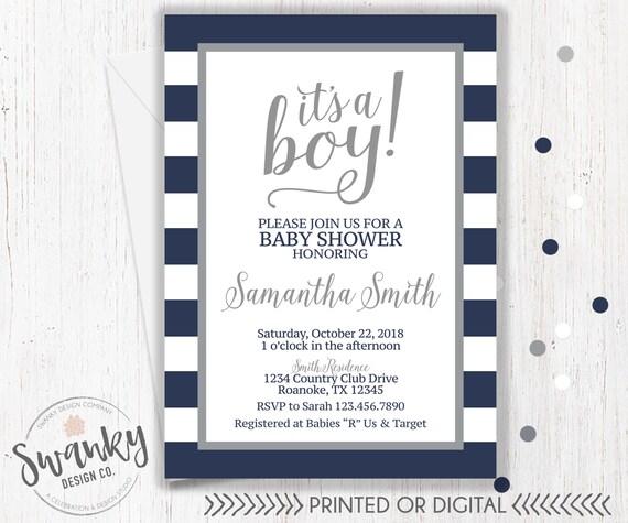 Navy and gray baby shower invitations boy baby shower invitation il570xn filmwisefo