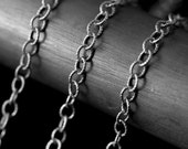3.1 Patterned Oval Oxidized Chain Sterling Silver
