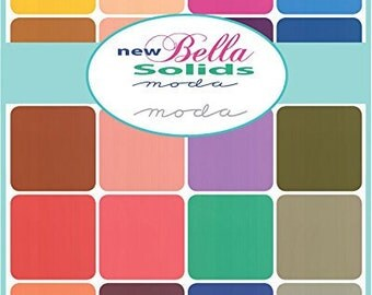 Bella Solids Charm Pack for Moda Fabrics - 5 inch squares