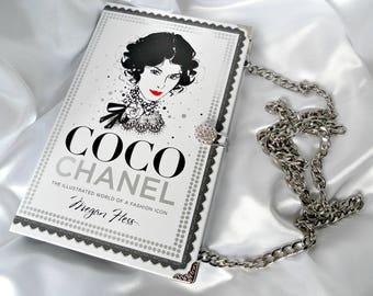 Book Purse Handbag - Coco Chanel - Fashion Book Handbag - Chanel Clutch Bag - Book Cover Handbag - UK Book Purse