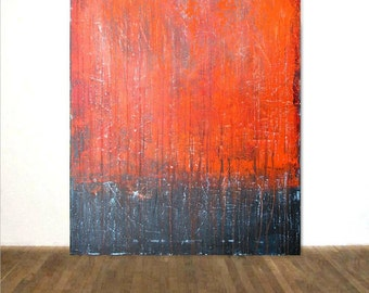Large Acrylic Painting 80 x 100 cm Original Art Contemporary Abstract XXL Art Richter Style