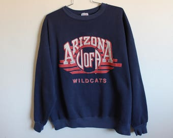 XLARGE Vintage 1980s University of Arizona Wildcats Graphic Sweatshirt