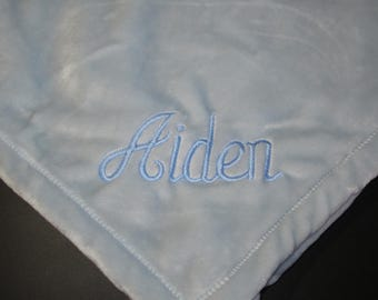Personalized Baby Blanket - Light Blue, Super Soft, Personalized Gifts, Baby Blankets, Baby Gifts, Blue, Monogrammed, Blankets, Baby Boy