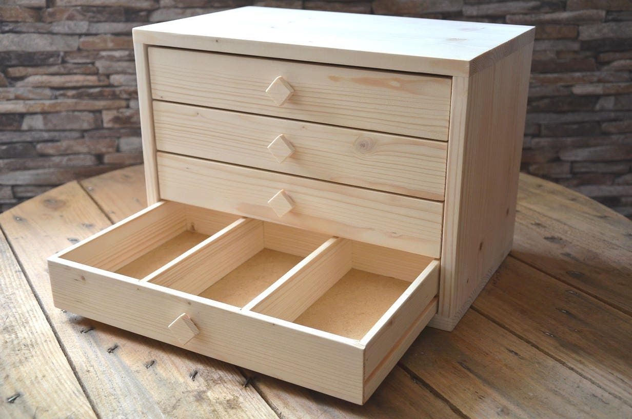 Furniture In Tree With Drawers Compartmentalized For Storing Beads Buttons Small Accessories