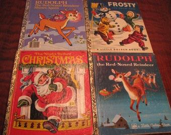 4 Vintage Little Golden Books - Christmas (d)