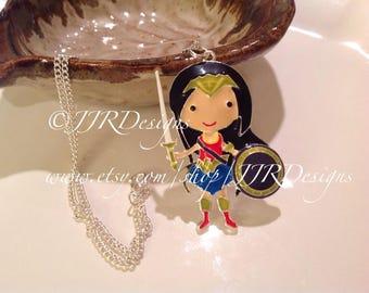 Superhero Girl Necklace- Superhero Necklace