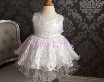 Baby girl lace baptism dress
