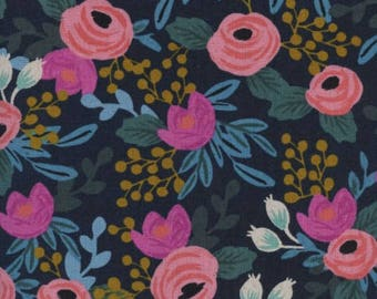 Rosa in Navy Canvas -Menagerie -Anna Rifle Bond for Cotton + Steel