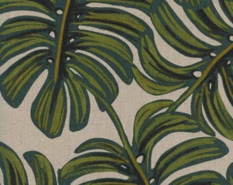 Monstera in Natural Canvas -Menagerie -Anna Rifle Bond for Cotton + Steel