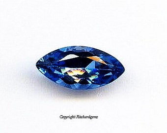 3.50 Ct. Large Brazilian London Blue Topaz Faceted Marquise cut