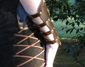 Steampunk Cage Leather Bracer