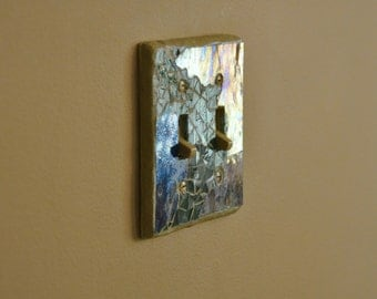 "mosaic switch plate."" Move me blue"""